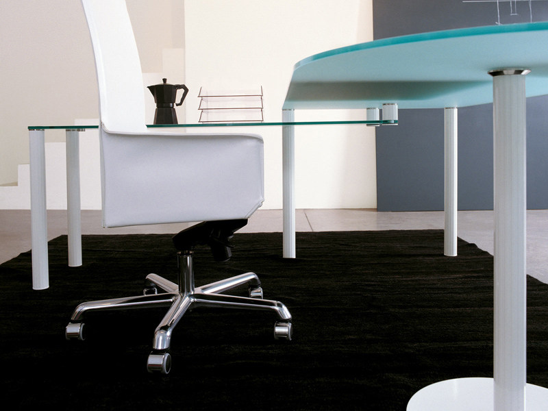 Glass office desk VALEO | Office desk - ENRICO PELLIZZONI