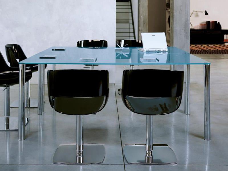 Glass meeting table VALEO | Meeting table - ENRICO PELLIZZONI