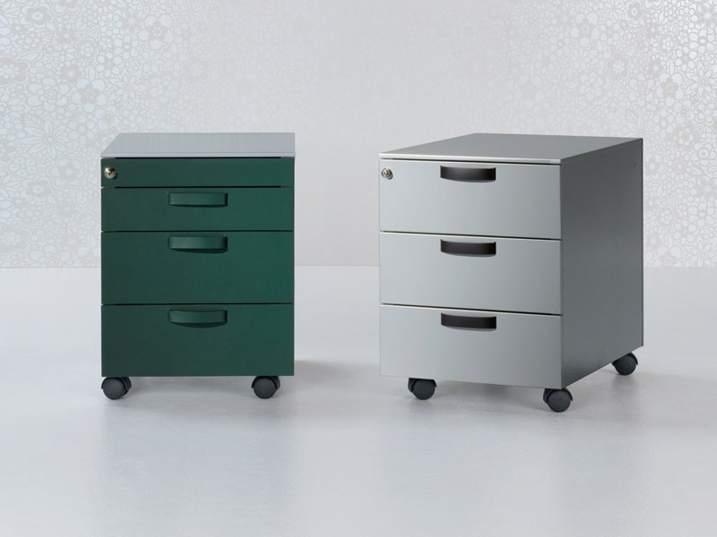 Steel office drawer unit with casters with lock Office drawer unit - ENRICO PELLIZZONI