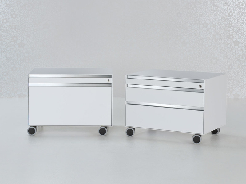 Steel office drawer unit with casters with lock UTILITY | Office drawer unit - ENRICO PELLIZZONI