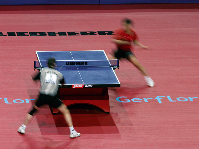 Resilient sports flooring for table tennis TARAFLEX™ TABLE TENNIS - GERFLOR