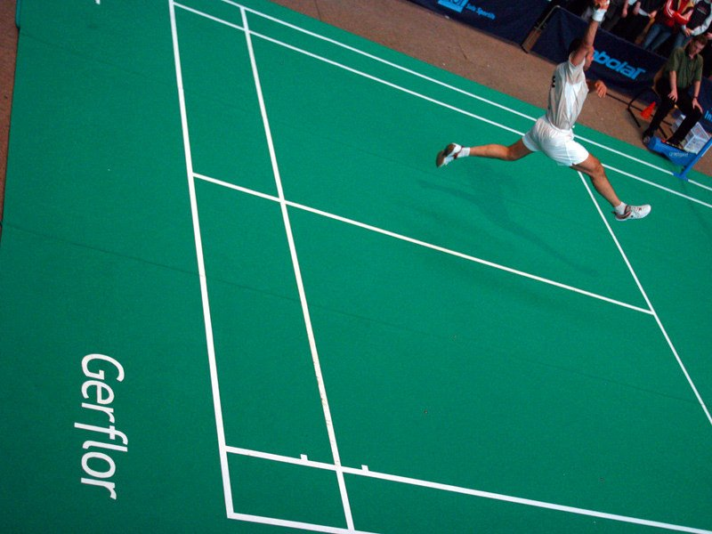 Resilient sports flooring TARAFLEX™ BADMINTON - GERFLOR