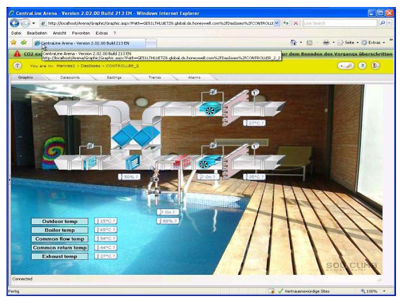 Software for home and building automation ARENA by HONEYWELL
