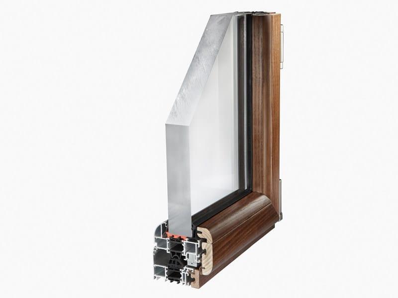 Aluminium and wood thermal break window NATHURA 82 - ALsistem