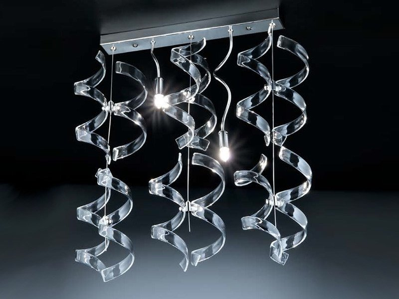 Crystal ceiling lamp ASTRO | Ceiling lamp by Metal Lux