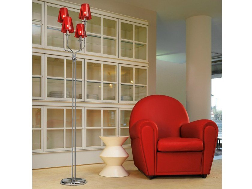 Stained glass floor lamp OPERA | Floor lamp - Metal Lux di Baccega R. & C.