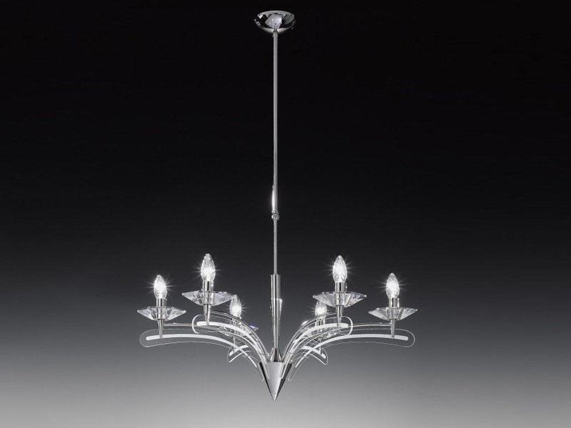 Screen printed glass chandelier ICARO | Chandelier - Metal Lux di Baccega R. & C.