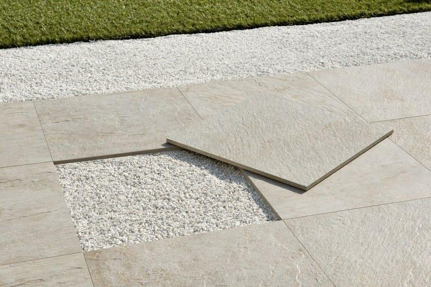 Sistema modulare per pavimento sopraelevato in gres porcellanato aextra 20 ceramiche caesar - Piastrelle in cemento per esterno 50x50 ...