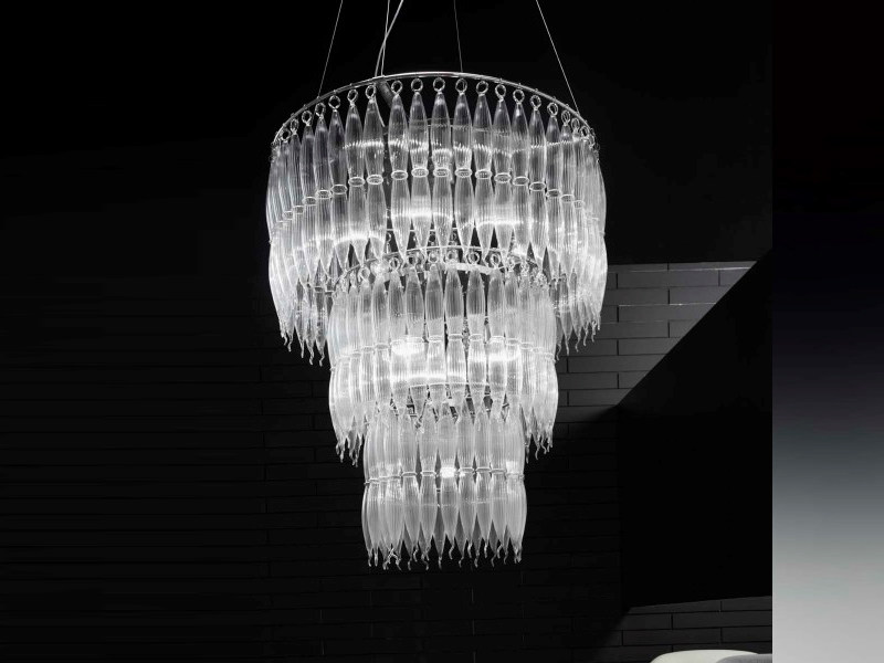 Pyrex® chandelier ARENA | Chandelier by Metal Lux