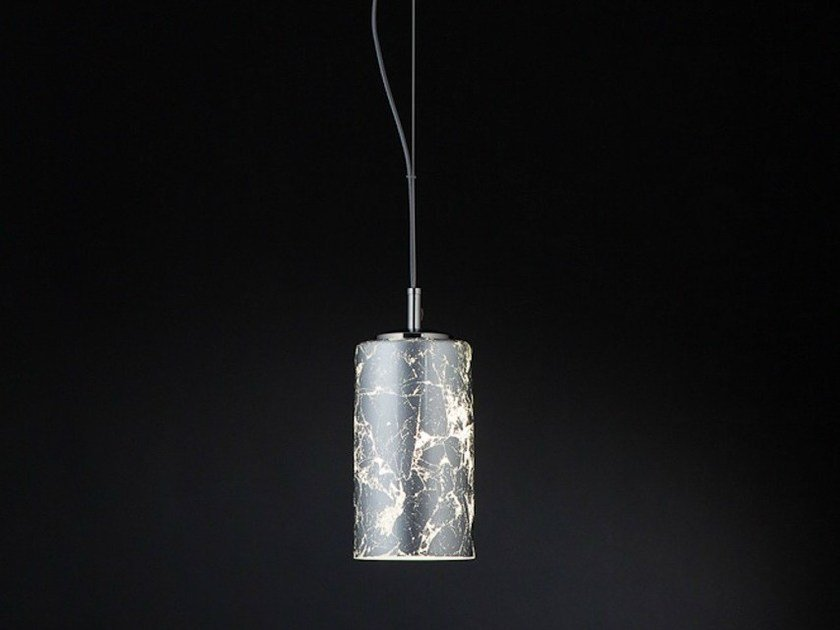 Silver leaf pendant lamp BRICK | Pendant lamp by Metal Lux