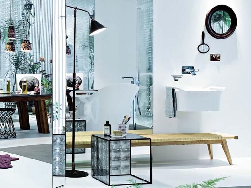 lavabo da appoggio con porta asciugamani axor urquiola. Black Bedroom Furniture Sets. Home Design Ideas