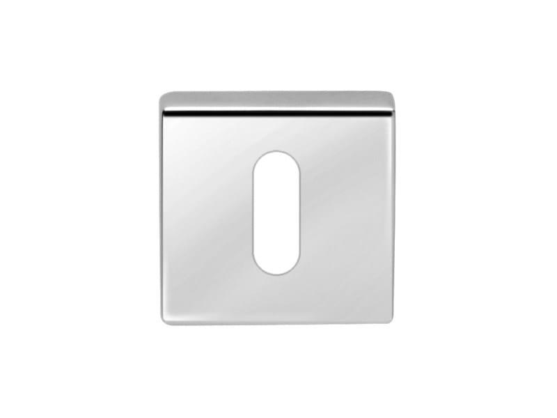 Square brass keyhole escutcheon Square keyhole escutcheon by i-DESIGN