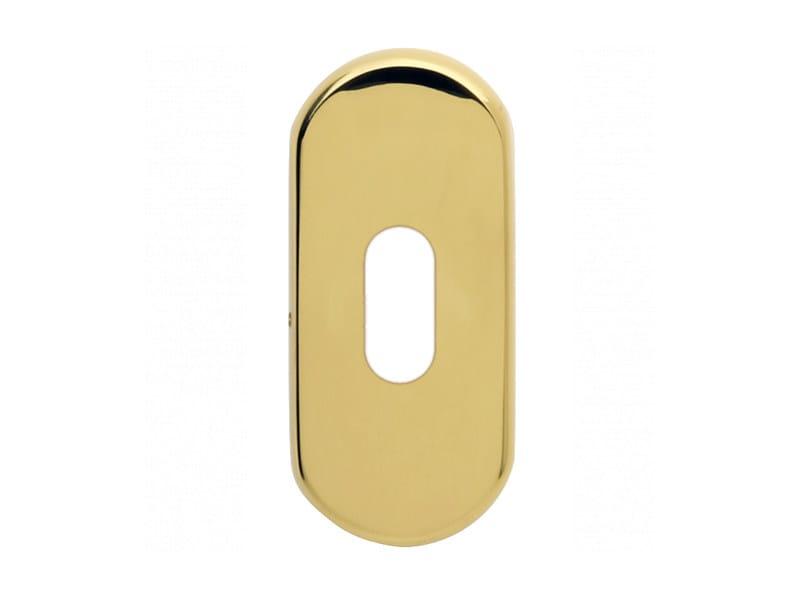 Oval brass keyhole escutcheon Oval keyhole escutcheon by i-DESIGN