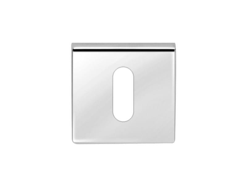 Square brass keyhole escutcheon FILO!   Square keyhole escutcheon - i-DESIGN