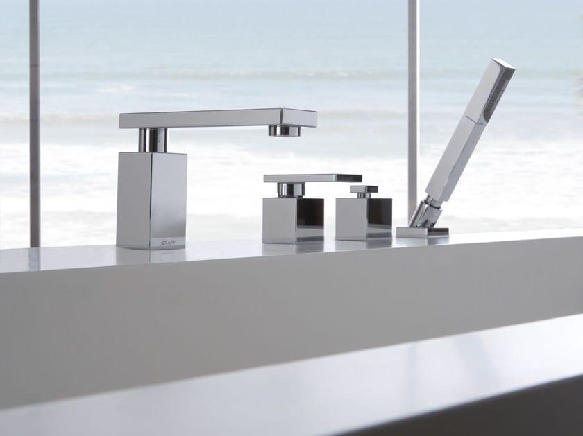 4 hole bathtub set with hand shower SOLAR | Bathtub set - Graff Europe West