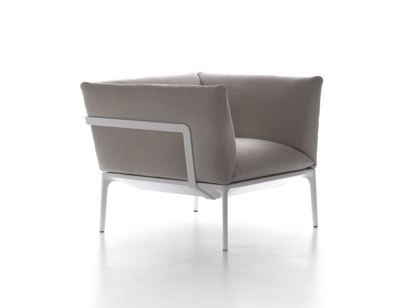 Upholstered armchair with removable cover YALE | Armchair - MDF Italia
