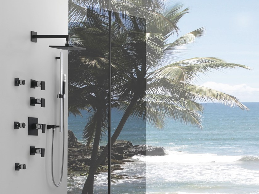 Built-in shower panel with hand shower SOLAR | Shower panel - Graff Europe West