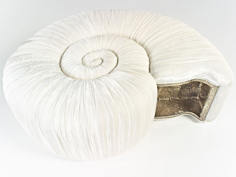 Velvet sofa AMMONITE by Sicis