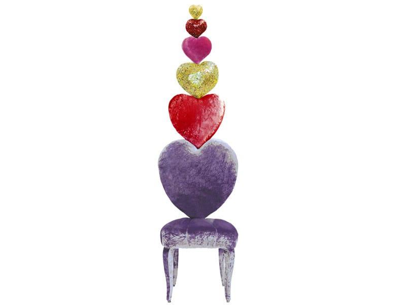 Upholstered high-back velvet chair SEDIA DI FIDANZAMENTO - Sicis