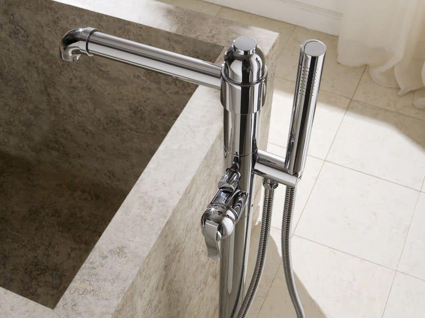 Floor standing bathtub mixer with hand shower BALI   Bathtub mixer - Graff Europe West