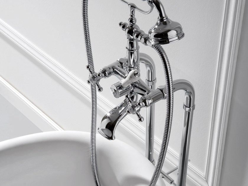 Floor standing bathtub tap with hand shower CANTERBURY   Bathtub tap - Graff Europe West
