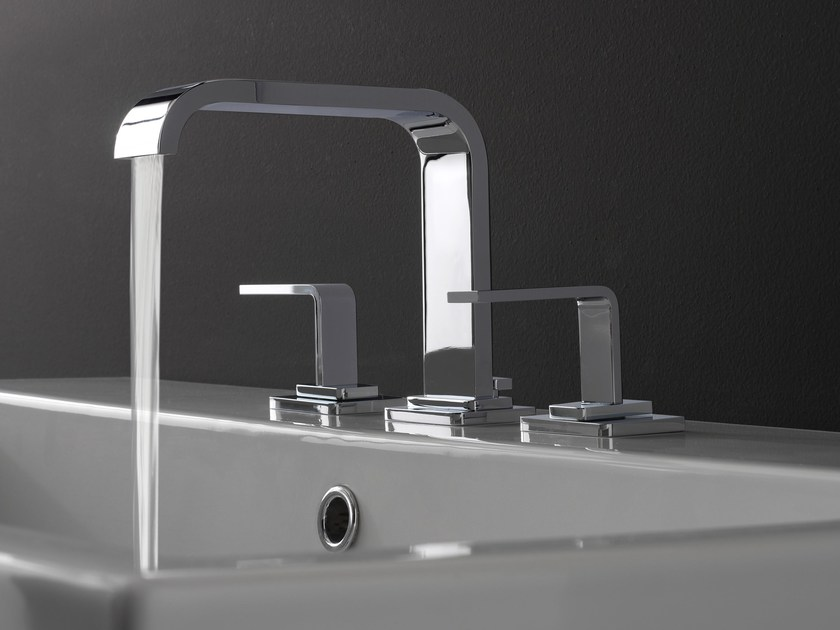 3 hole countertop washbasin tap IMMERSION | Washbasin tap by Graff Europe West