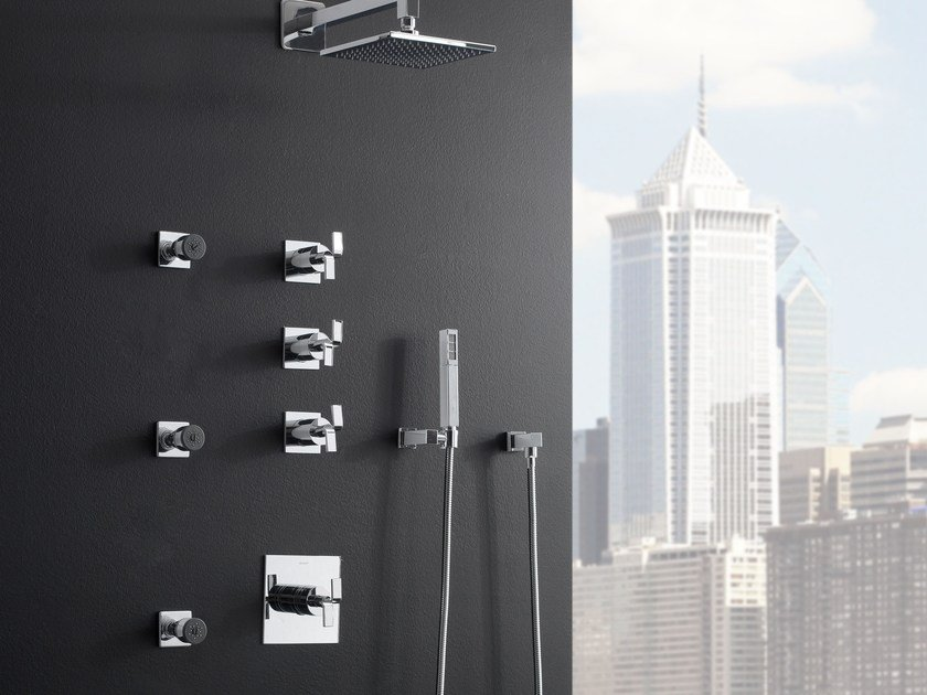 Shower tap with hand shower with overhead shower IMMERSION | Shower tap - Graff Europe West