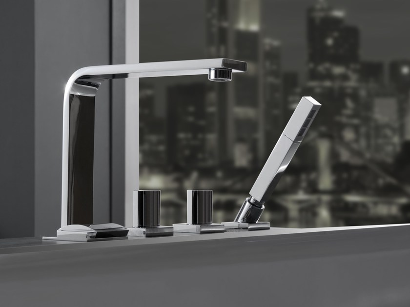 4 hole bathtub set with hand shower TARGA | Bathtub set - Graff Europe West