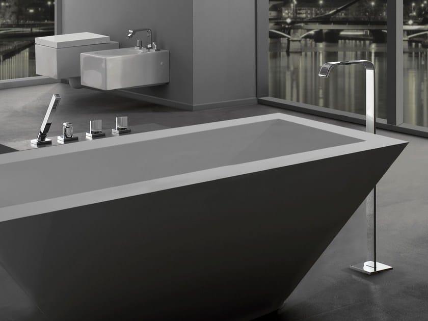 Floor standing bathtub set with hand shower TARGA | Floor standing bathtub set - Graff Europe West