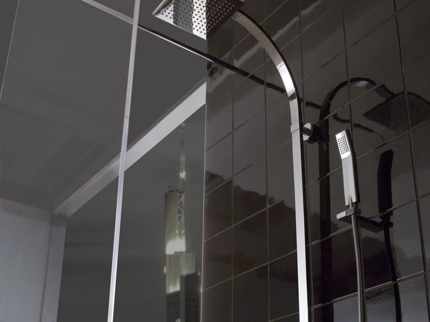 Colonna doccia a muro con doccetta con soffione collezione - Dove posizionare soffione doccia ...
