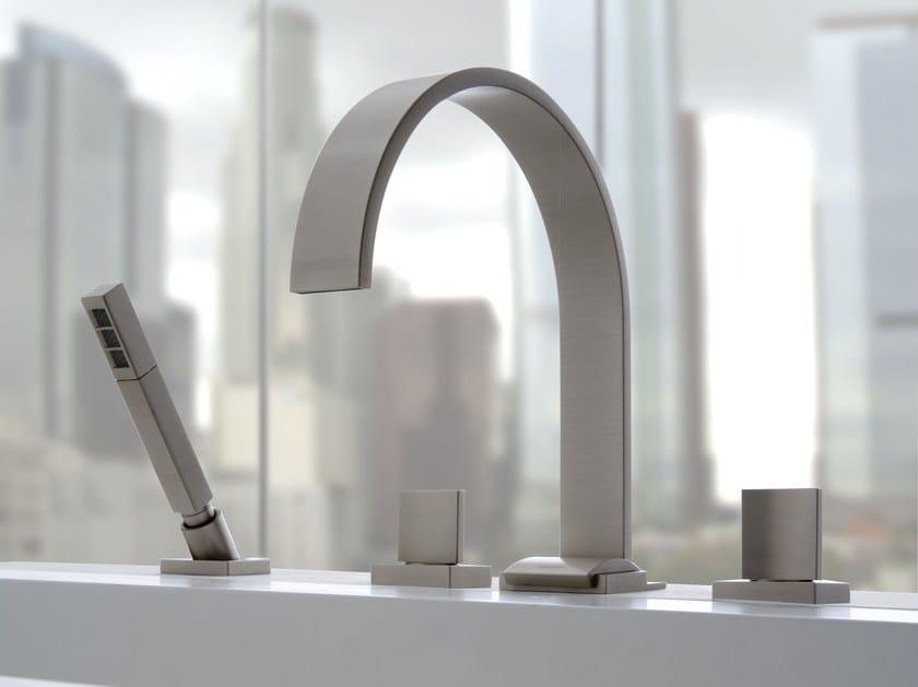 4 hole bathtub set with hand shower SADE | Bathtub set - Graff Europe West