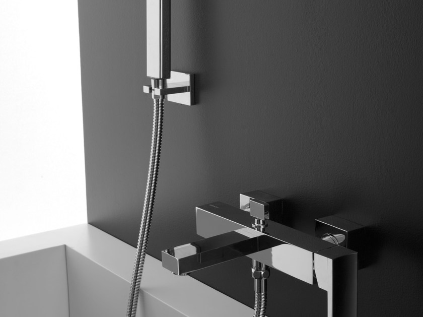 Wall-mounted bathtub tap with hand shower SADE | Bathtub mixer - Graff Europe West