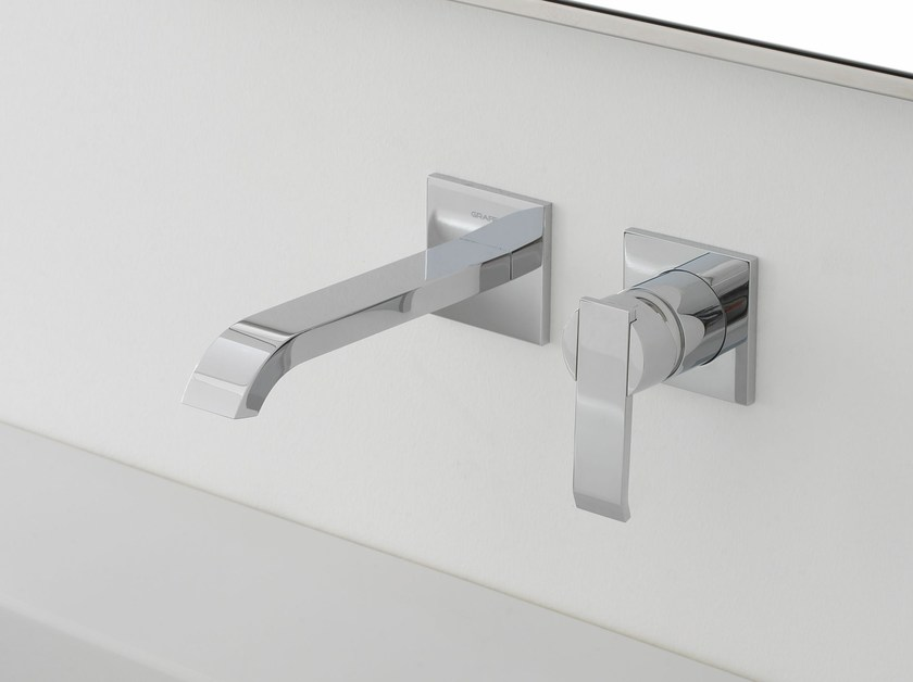 2 hole wall-mounted washbasin tap QUBIC | Wall-mounted washbasin tap - Graff Europe West