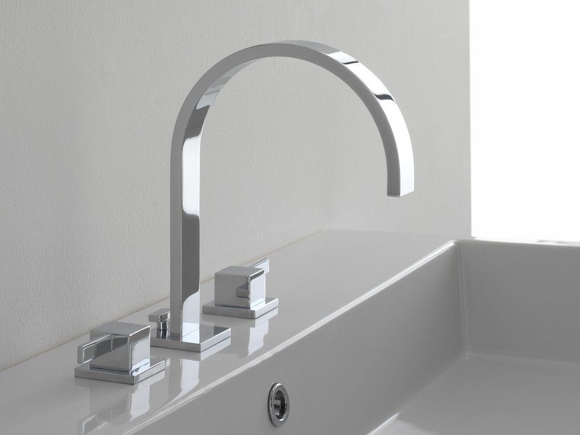 3 hole countertop washbasin tap QUBIC | 3 hole washbasin tap by Graff Europe West