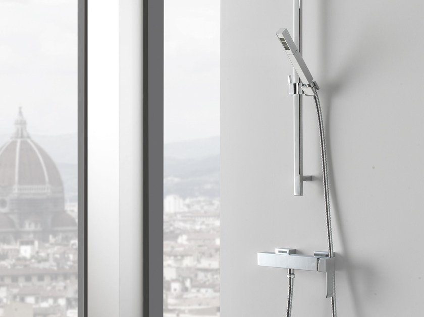 Shower wallbar with hand shower with mixer tap QUBIC | Shower wallbar - Graff Europe West