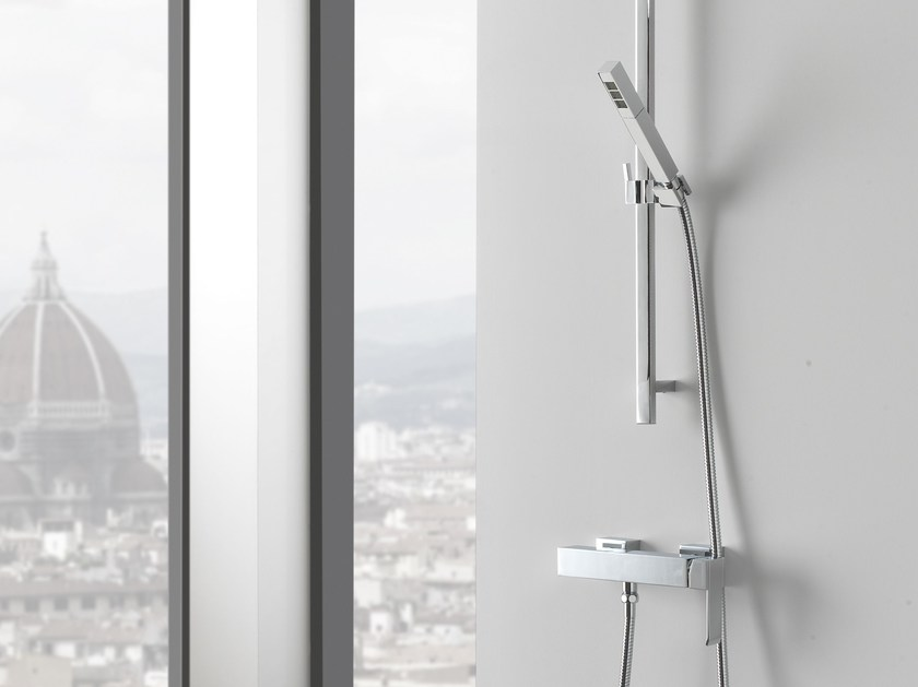 Shower wallbar with hand shower with mixer tap QUBIC | Shower wallbar by Graff Europe West