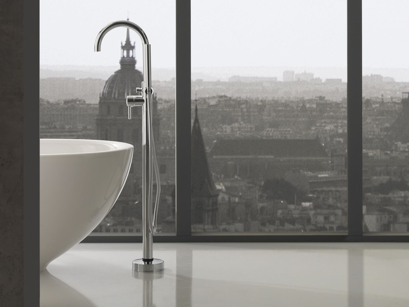 Floor standing bathtub mixer with hand shower IMMERSION | Floor standing bathtub tap - Graff Europe West