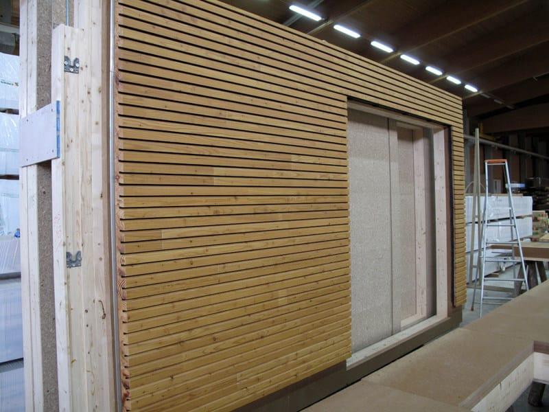 Pannello in legno per facciate openlam simonin for Listelli metallici