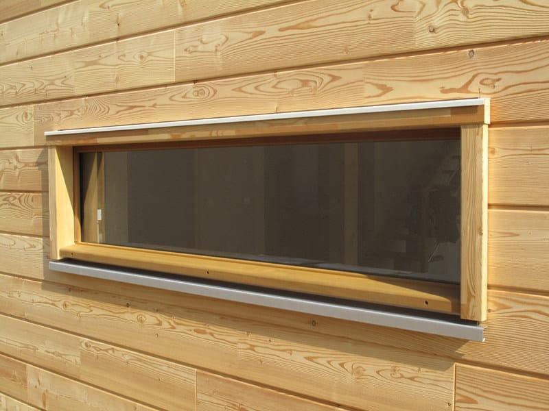 Wall parapet, threshold, front panel Woodframe carpentry by Simonin