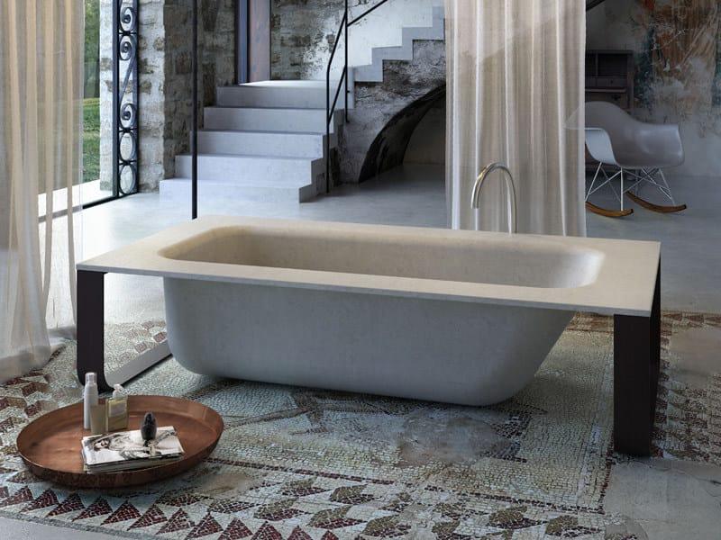 Freestanding bathtub CONCRETE BATH by Glass1989
