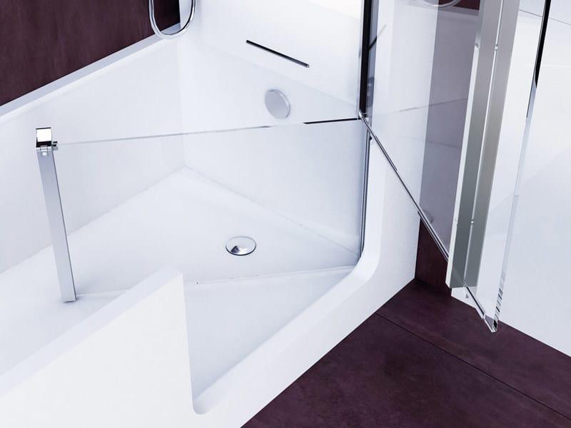 Vasca da bagno con doccia con porta ELLE COMBI - Glass1989