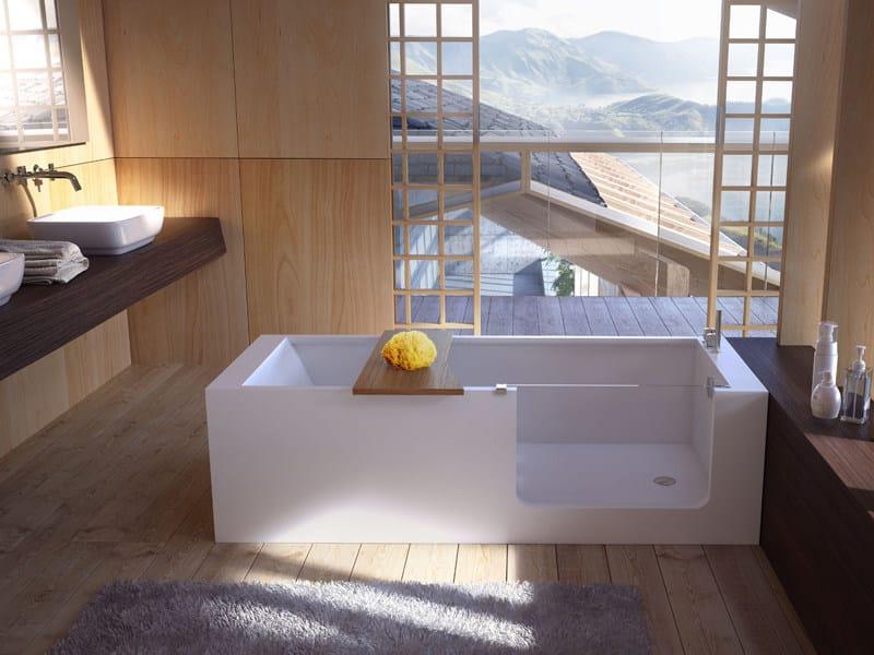 freestanding bathtub with door elle bath by glass 1989 design, Hause ideen
