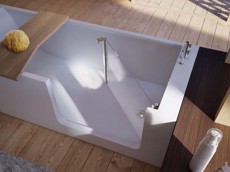 Vasca da bagno centro stanza con porta elle bath glass 1989 - Vasca bagno con porta ...