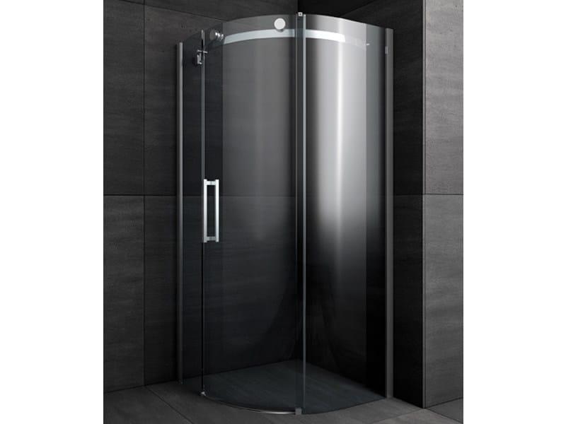 Box doccia angolare semicircolare con porte scorrevoli - Foto box doccia ...
