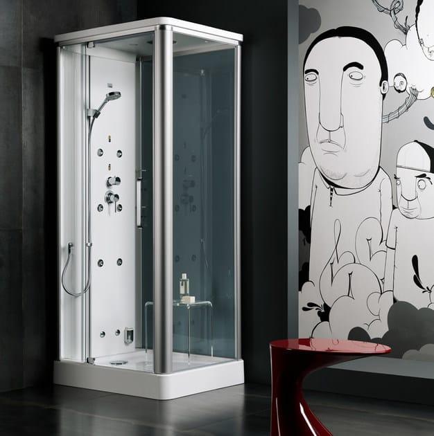 Box doccia angolare con bagno turco KIRA | Box doccia angolare ...