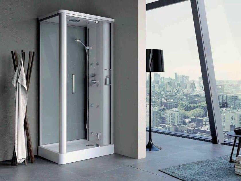 box doccia angolare con bagno turco