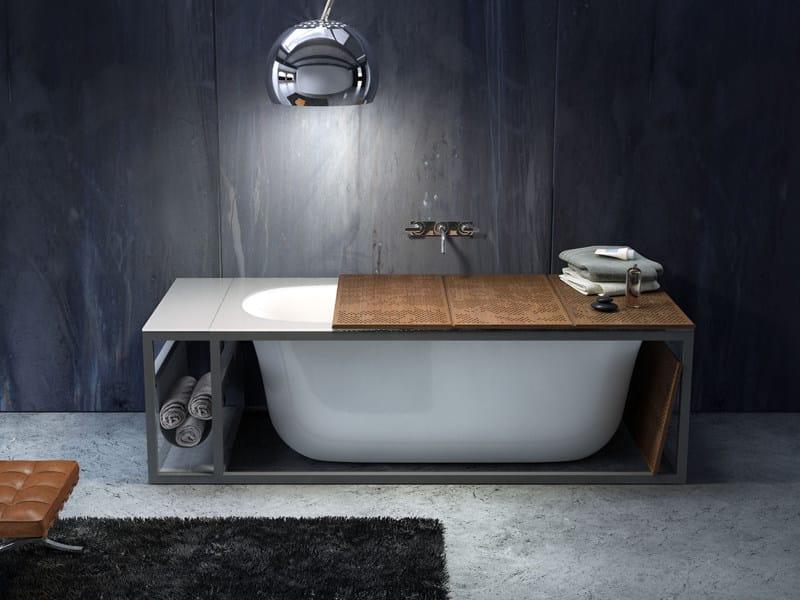 Vasca da bagno ovale in acrilico naked collezione steam bath by glass 1989 design giopato - Vasca da bagno ovale ...