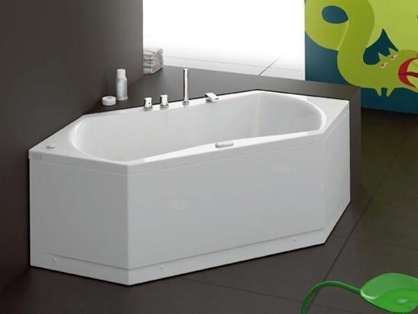 Urban b vasca da bagno angolare by glass 1989 design - Dimensioni vasca da bagno angolare ...