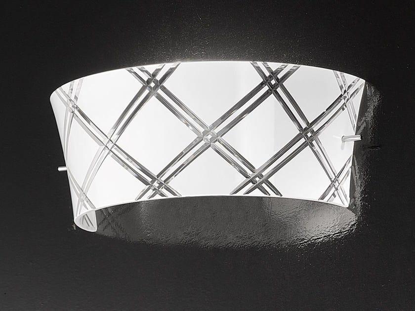 Glass wall light CORALLO | Wall light - Metal Lux di Baccega R. & C.