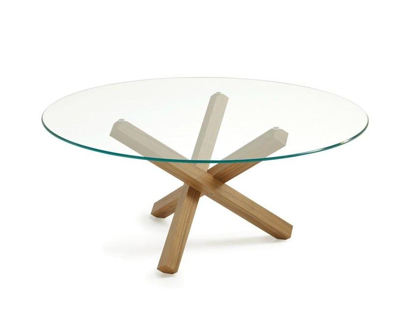 fr produits  table ronde en verre aikido round sovet italia